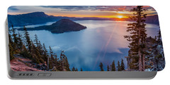 2015 Spring Sunrise From Discovery Point Portable Battery Charger