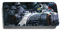 2015 Williams Fw37 F1 Pit Stop Spain Gp Massa  Portable Battery Charger
