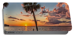 Portable Battery Charger featuring the photograph Sunset Over Lake Eustis by Christopher Holmes