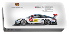 2016 911gt3r Rsr Poster Portable Battery Charger by Alain Jamar