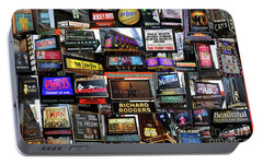 Portable Battery Charger featuring the photograph 2016 Broadway Fall Collage by Steven Spak