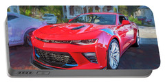Portable Battery Charger featuring the photograph 2017 Chevrolet Camaro Ss2  by Rich Franco