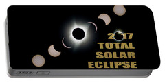 2017 Total Solar Eclipse Phases Portable Battery Charger