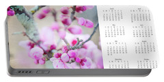 Portable Battery Charger featuring the photograph 2017 Wall Calendar Cherry Blossoms by Ivy Ho