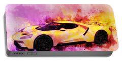2018 Ford Gt Watercolour Whatta Ride Portable Battery Charger