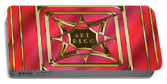 Portable Battery Charger featuring the digital art 2020 Deco 2 by Chuck Staley