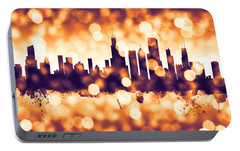 Chicago Illinois Skyline Portable Battery Charger by Michael Tompsett