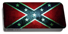 Portable Battery Charger featuring the photograph Confederate Flag by Les Cunliffe