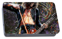 Jimmy Page Collection Portable Battery Charger by Marvin Blaine