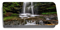 West Virginia Waterfall Portable Battery Charger by Thomas R Fletcher