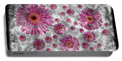 22a Abstract Floral Painting Digital Expressionism Art Portable Battery Charger
