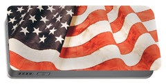Portable Battery Charger featuring the photograph American Flag by Les Cunliffe