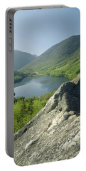 Portable Battery Charger featuring the photograph 235601 Echo Lake Cannon Mountain Nh by Ed Cooper Photography