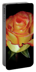 23rd Anniversary Rose Portable Battery Charger by Elaine Malott