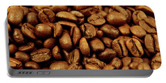 Portable Battery Charger featuring the photograph Coffee Beans by Les Cunliffe