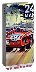 24 Hour Of Le Man, Race Car, Travel Poster Portable Battery Charger