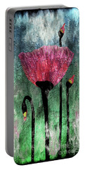 24a Abstract Floral Painting Digital Expressionism Portable Battery Charger