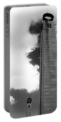 Portable Battery Charger featuring the photograph 25 De Abril Monument In Black And White by Lorraine Devon Wilke