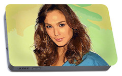 Gal Gadot Art Portable Battery Charger by Best Actors
