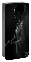 Portrait Of Indian Lady Portable Battery Charger