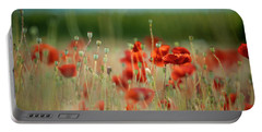 Summer Poppy Meadow Portable Battery Charger