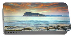 Sunrise Seascape With Clouds Portable Battery Charger