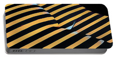 2612s-ak Abstract Rear Butt Bum Thighs Zebra Striped Woman In Composition Style Portable Battery Charger