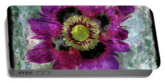 27a Abstract Floral Painting Digital Expressionism Portable Battery Charger