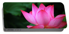 Blossoming Lotus Flower Closeup Portable Battery Charger