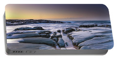 Sunrise Seascape And Rock Platform Portable Battery Charger