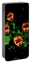 Texture Flowers Portable Battery Charger