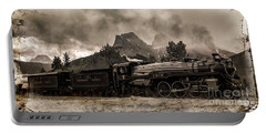 Portable Battery Charger featuring the photograph 2816 Empress At Three Sisters - Canmore by Brad Allen Fine Art