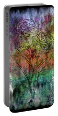28a Abstract Floral Painting Digital Expressionism Portable Battery Charger