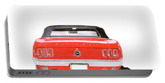 Portable Battery Charger featuring the painting 1969 Mustang Convertible by Jack Pumphrey