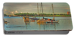 Portable Battery Charger featuring the digital art 3- Anchored Out by Joseph Keane