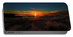Portable Battery Charger featuring the photograph Antelope Island Sunset by Norman Hall