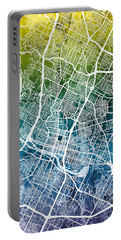 Austin Texas City Map Portable Battery Charger
