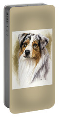 Australian Shepherd Portable Battery Charger by Barbara Keith