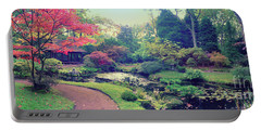 autumn  in Japanese park Portable Battery Charger