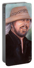 Barry Gibb Portable Battery Charger by Patrice Torrillo