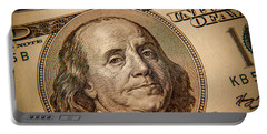 Portable Battery Charger featuring the photograph Benjamin Franklin by Les Cunliffe