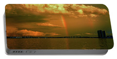 Portable Battery Charger featuring the photograph 3- Blue Heron Bridge by Rainbows