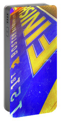 Portable Battery Charger featuring the photograph Boston Marathon Finish Line by Joann Vitali