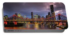 Brisbane City Skyline After Dark Portable Battery Charger