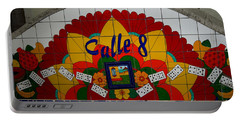 Calle Ocho Cuban Festival Miami Portable Battery Charger by Carol Ailles
