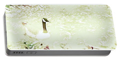 Canada Goose On A Stream In Autumn Portable Battery Charger