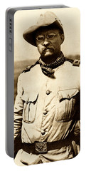 Portable Battery Charger featuring the photograph Colonel Theodore Roosevelt by War Is Hell Store