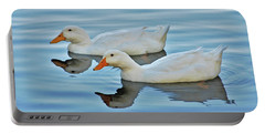 Portable Battery Charger featuring the photograph 3- Ducks by Joseph Keane