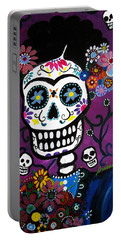 Frida Dia De Los Muertos Portable Battery Charger