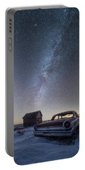 3 Galaxies  Portable Battery Charger by Aaron J Groen